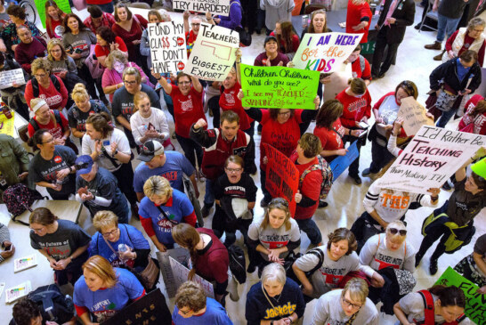 Oklahoma Teachers Begin 110-Mile March To Protest Education Funding