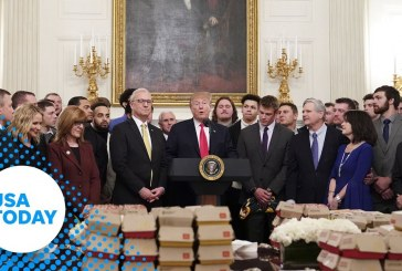 President Trump serves another fast food buffet to champion football players