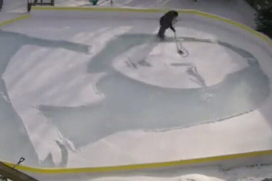 Canadian Man Recreates Leonardo da Vinci's 'Mona Lisa' On Backyard Ice Rink